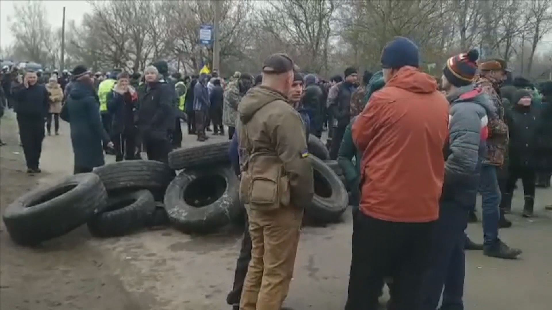 烏克蘭民眾反對撤僑入住療養院爆衝突