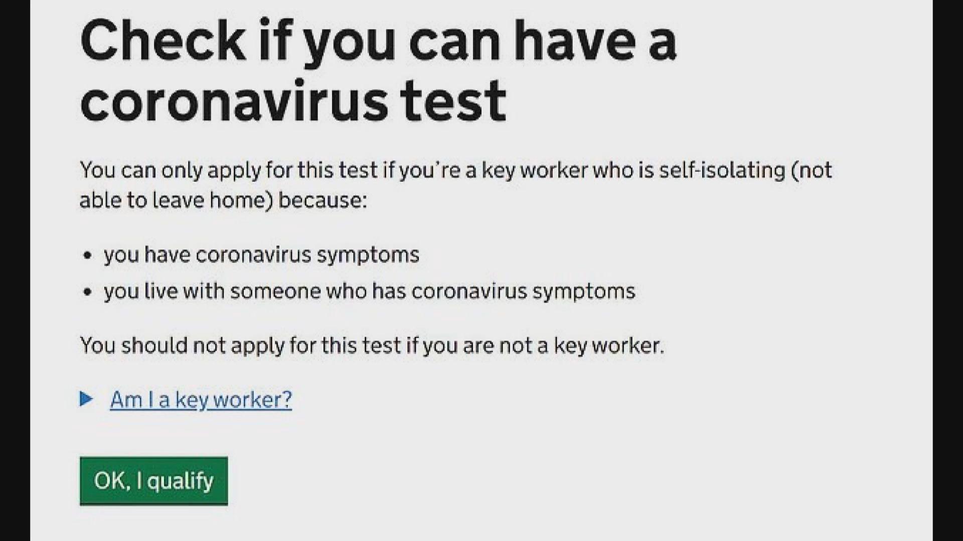 英國衞生部門承諾會增加新型冠狀病毒檢測配額