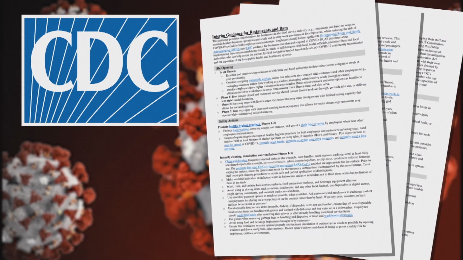 白宮阻疾控中心發布重啟經濟活動指引