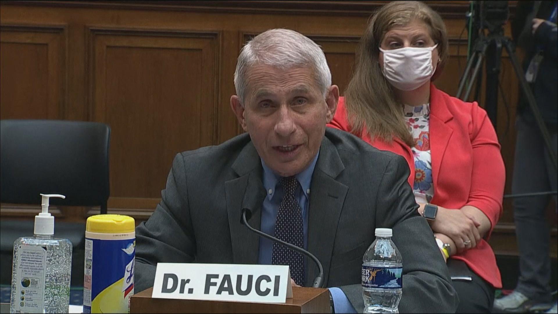 福奇:未來數周是美國遏制疫情關鍵