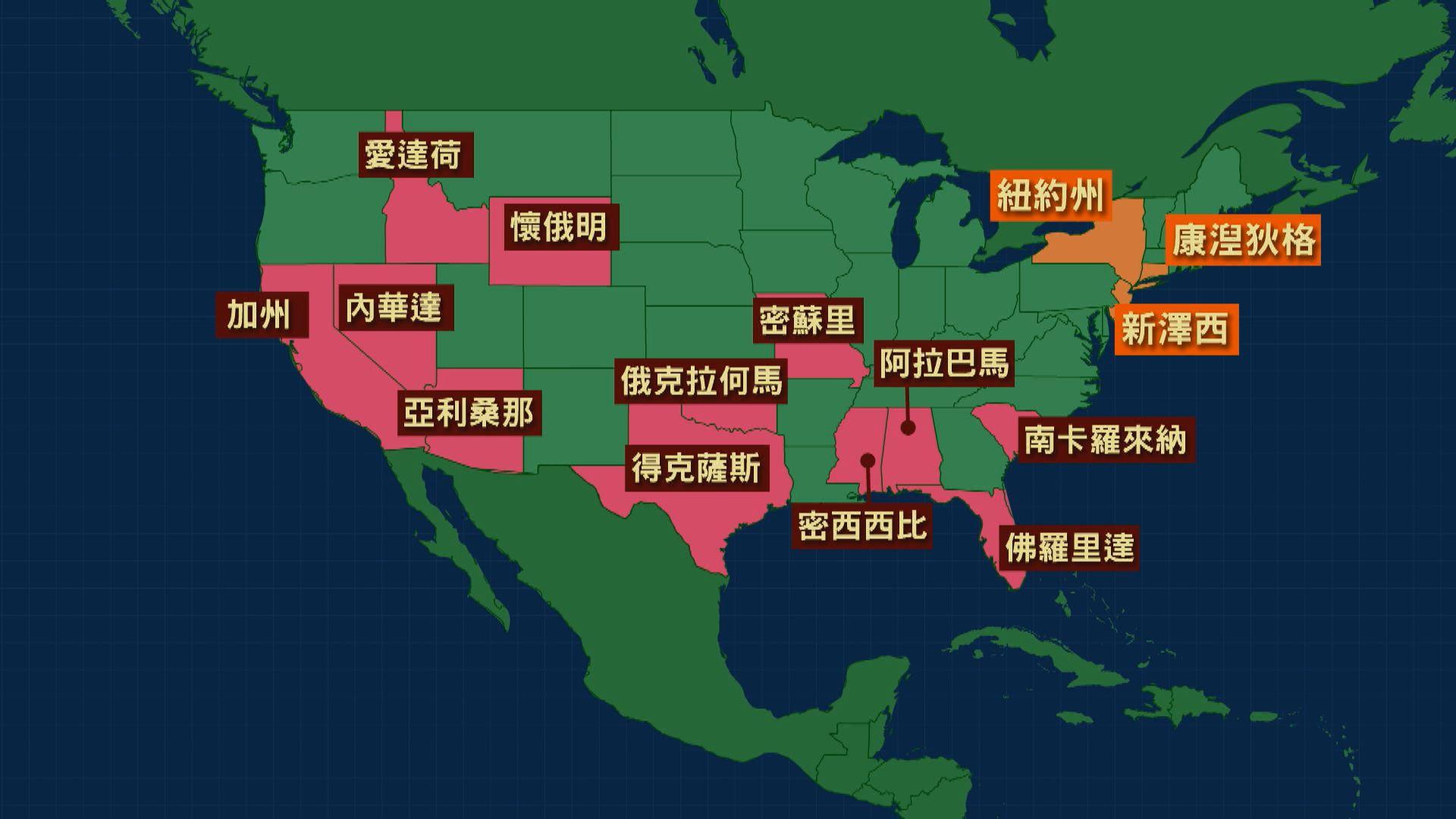 美國逾十個州叫停重啟經濟活動