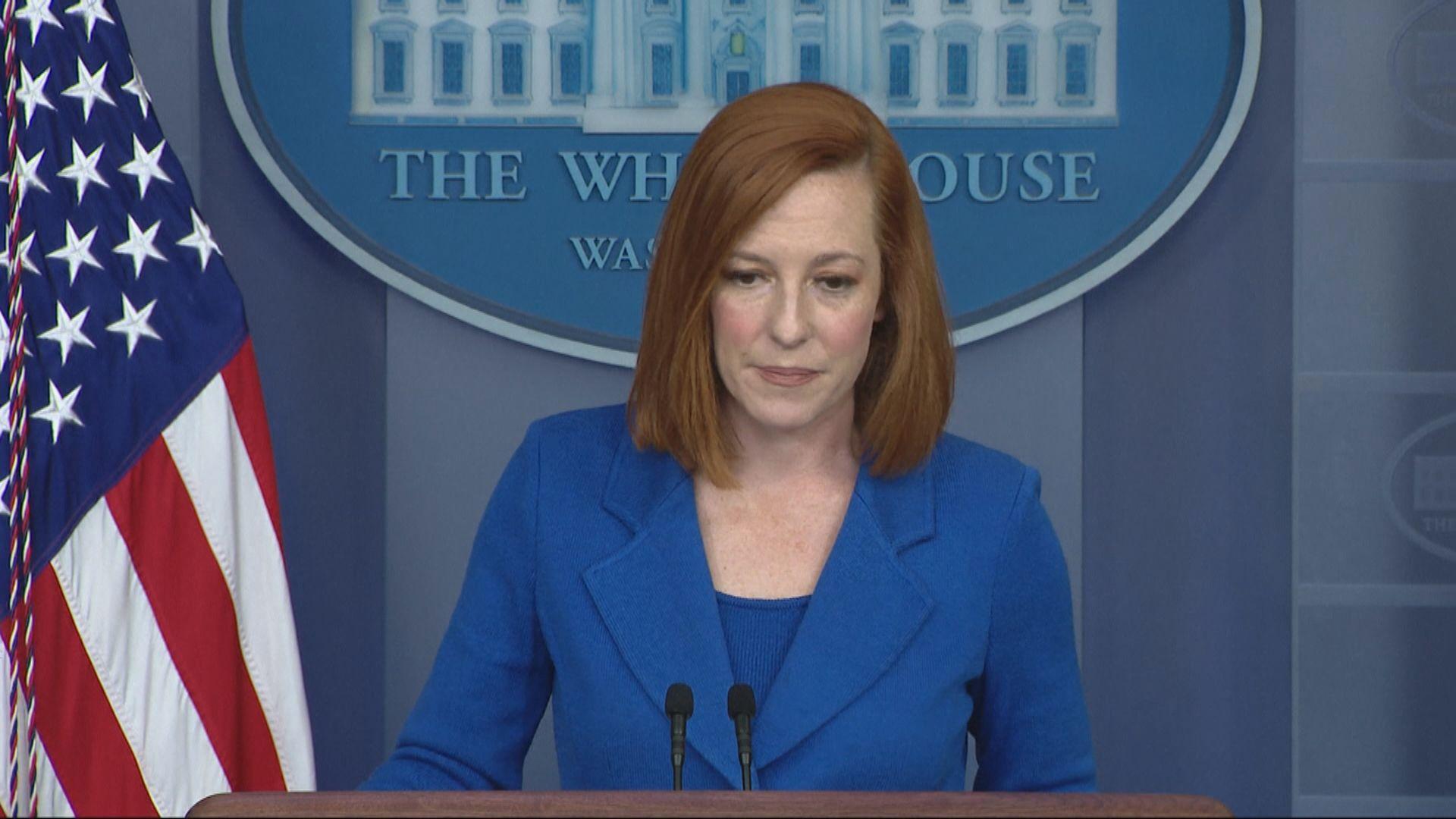 白宮發言人稱沒足夠資料對新冠病毒源頭作結論