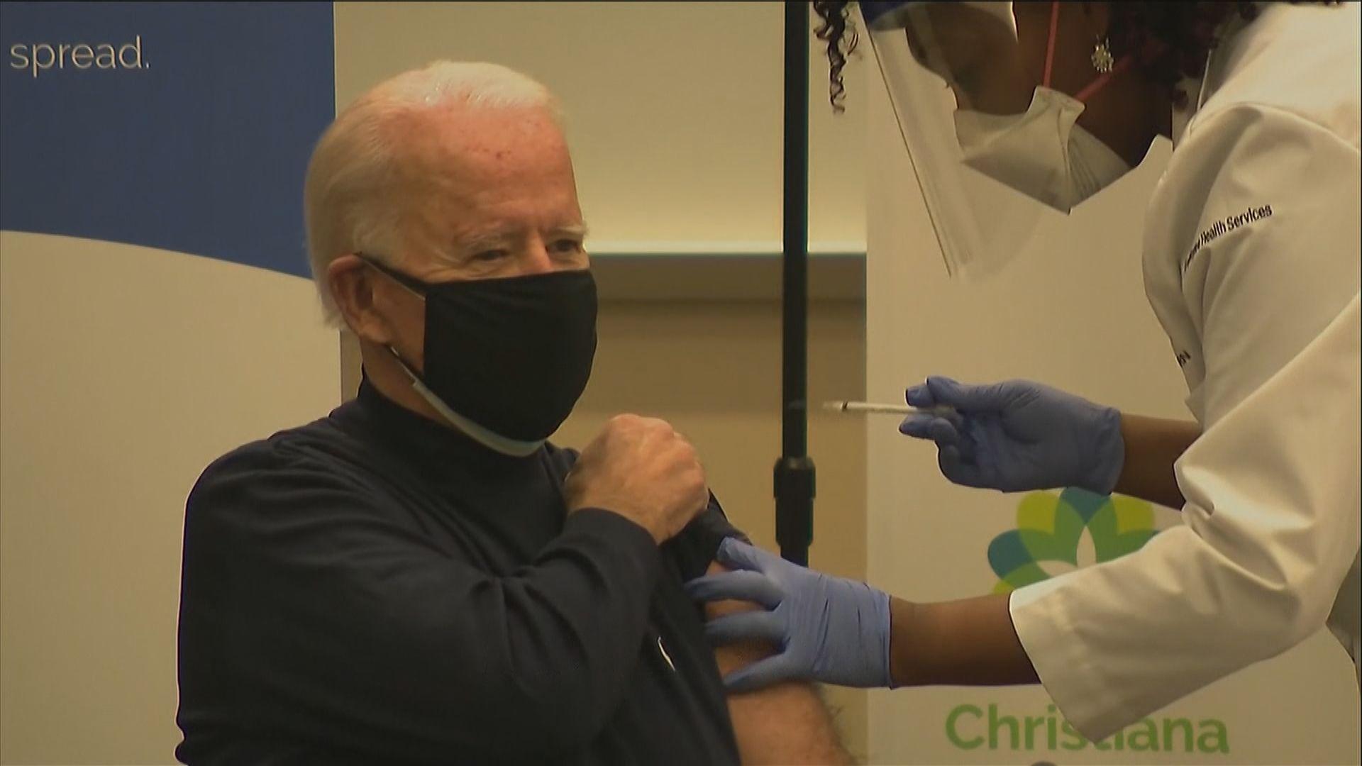 拜登公開接種新冠病毒疫苗