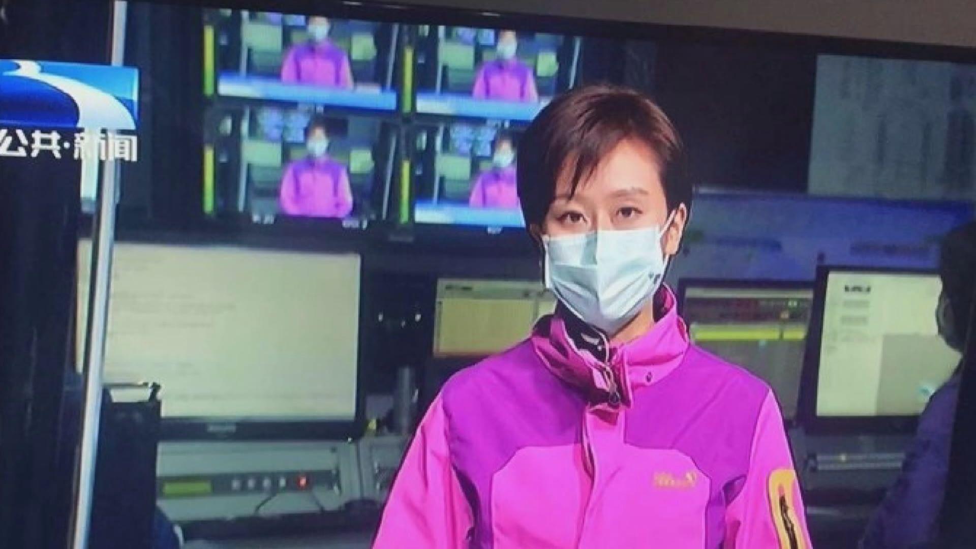 武漢有電視台主播和記者戴口罩出鏡