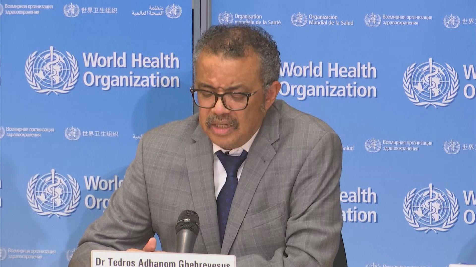 譚德塞:遏制疫情機會正在減少
