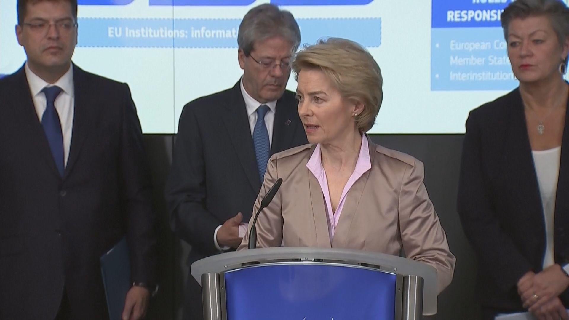 歐盟將新型肺炎疫情危機由中等提升至高