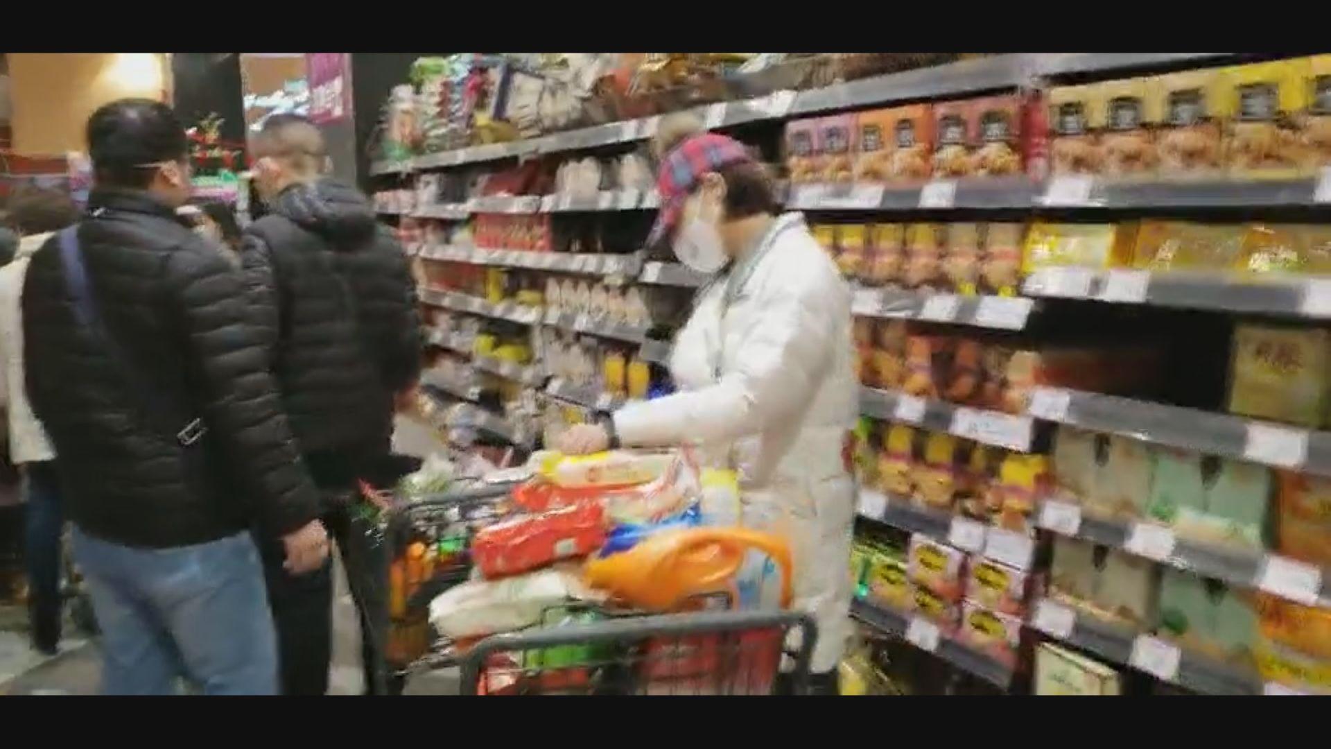 武漢居民:早幾天有食物搶購潮 口罩貨源暫充足