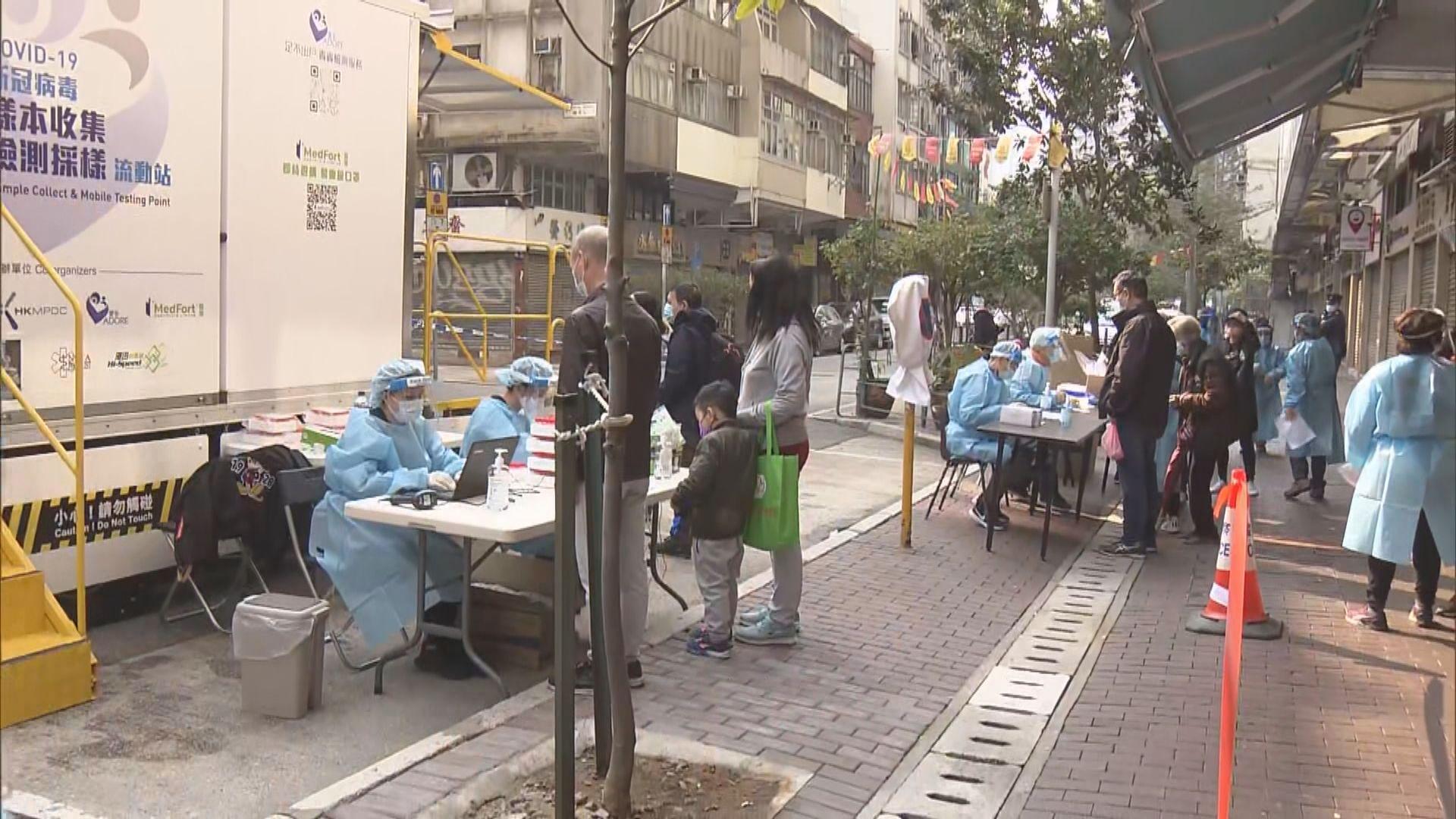 廣東道設流動採樣車 大批居民排隊等候檢測