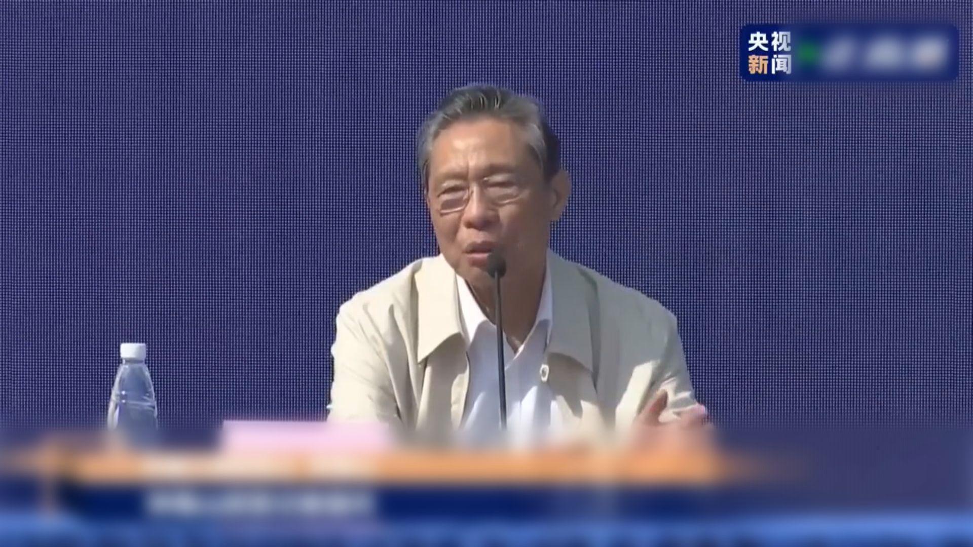 鍾南山 : 香港疫情仍未能解決本地個案問題