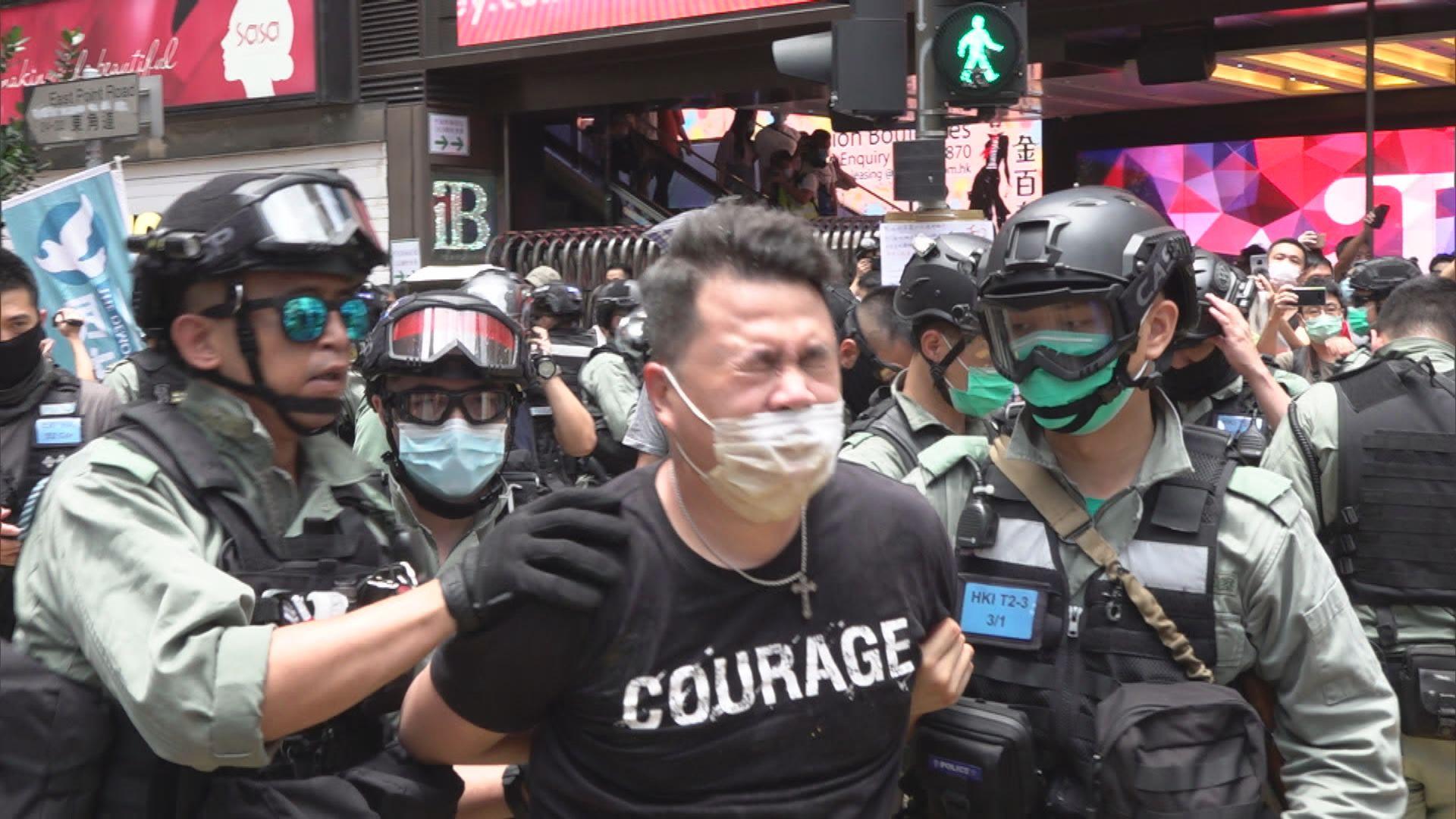 警方以涉嫌阻差辦公拘捕立法會議員尹兆堅