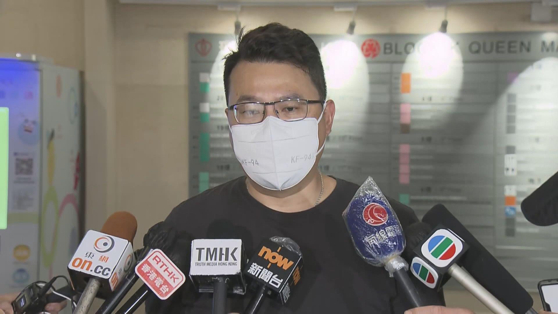 尹兆堅:被警員制服導致身體多處受傷