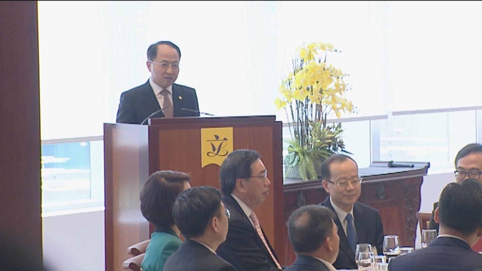 中聯辦主任王志民明年元宵節宴請立法會議員