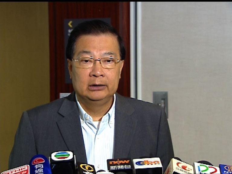 譚耀宗:王光亞言論具權威性