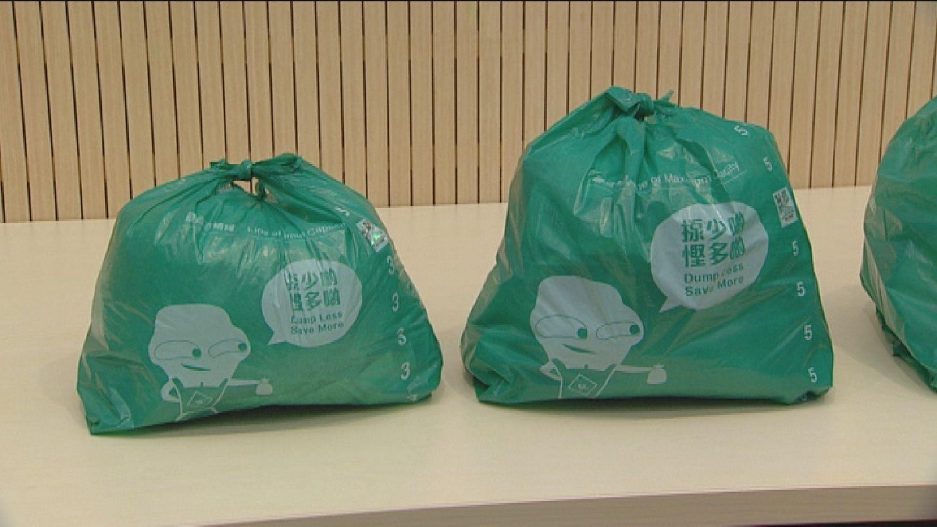 固體廢物每袋擬收費0.3元至11元