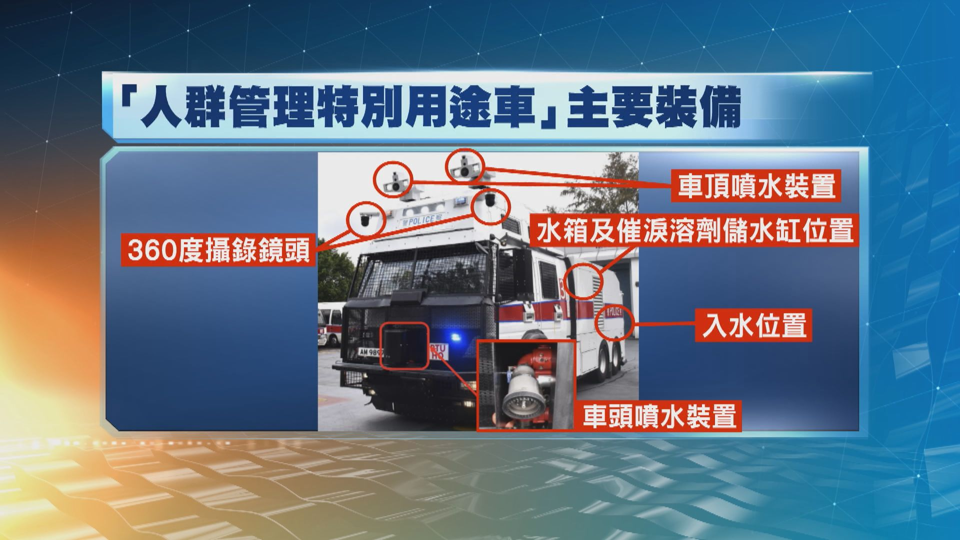 警方三部水炮車料下半年投入服務