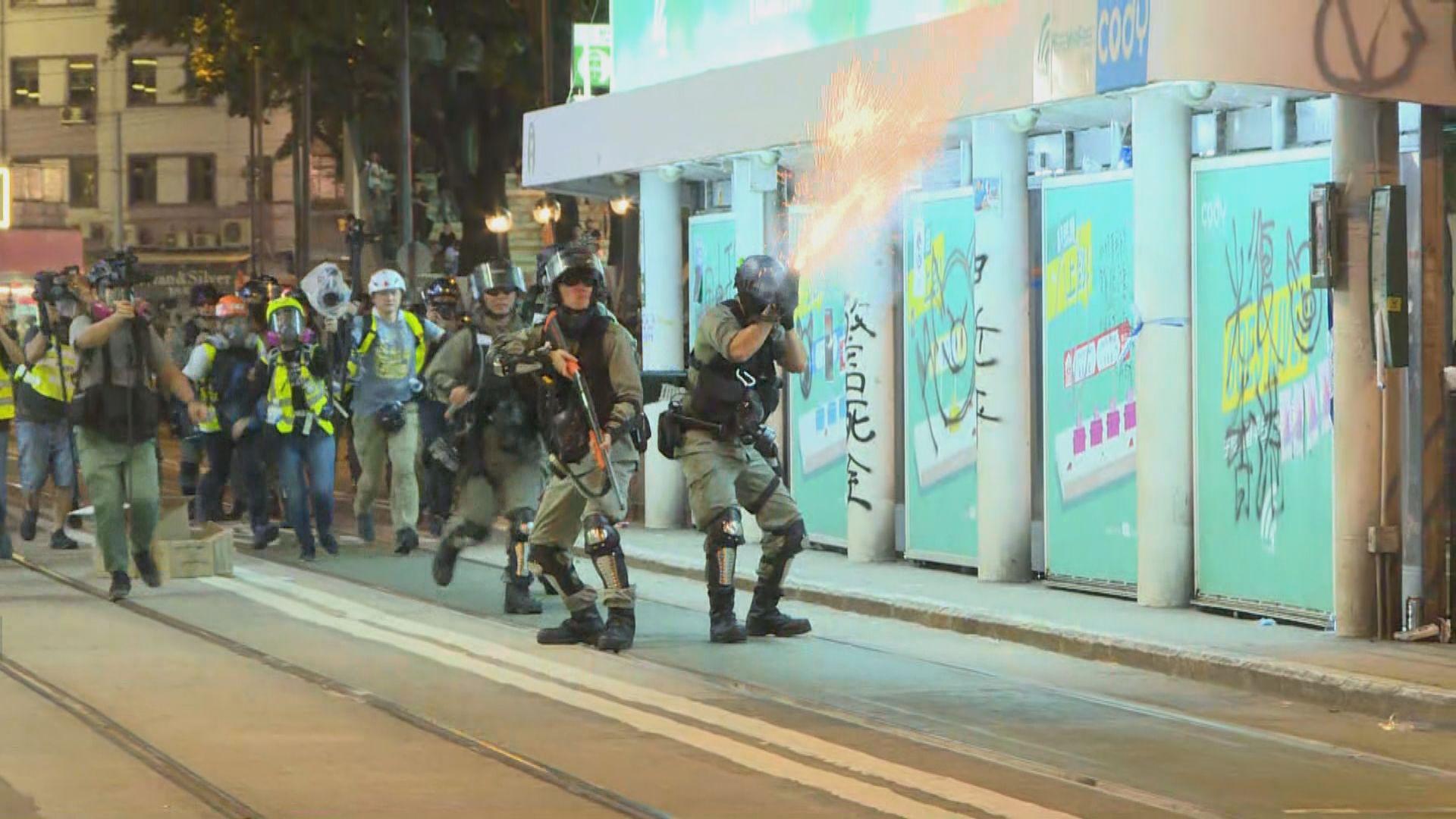 示威者灣仔多條街道聚集 警方多輪驅散