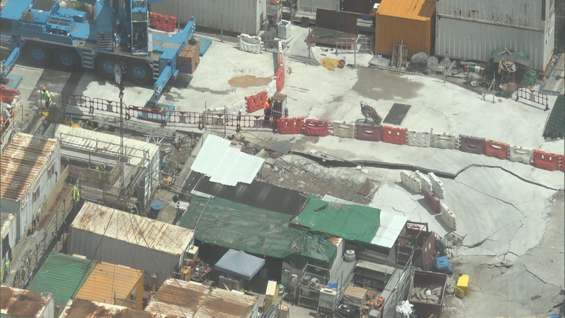 西九文化區演藝綜合劇場地盤疑地陷致水浸