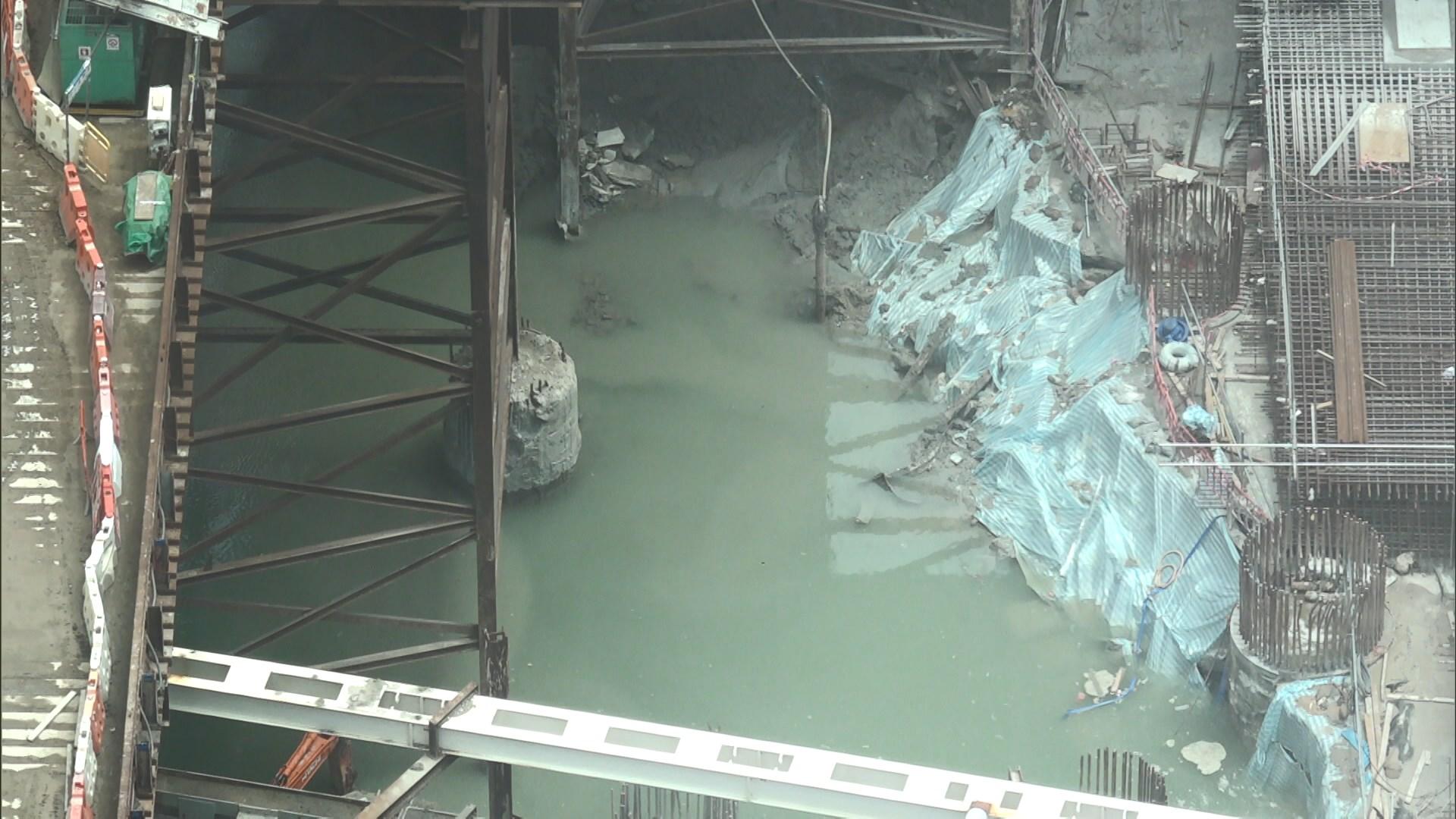 西九文化區地盤地下水湧入致地陷 無人傷