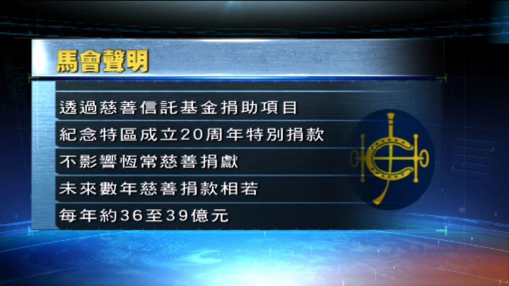 馬會:捐助香港故宮項目不影響恆常捐獻