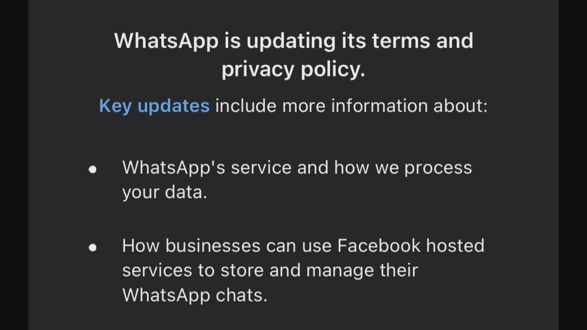 WhatsApp延遲用戶接受更新條款限期至五月中