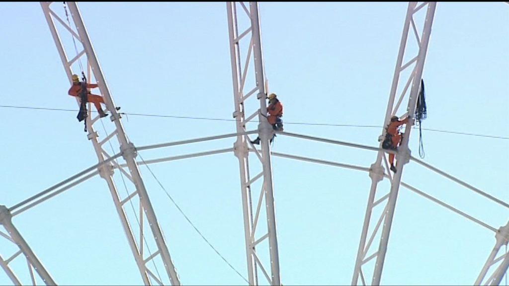 綠色和平示威者爬上中環摩天輪