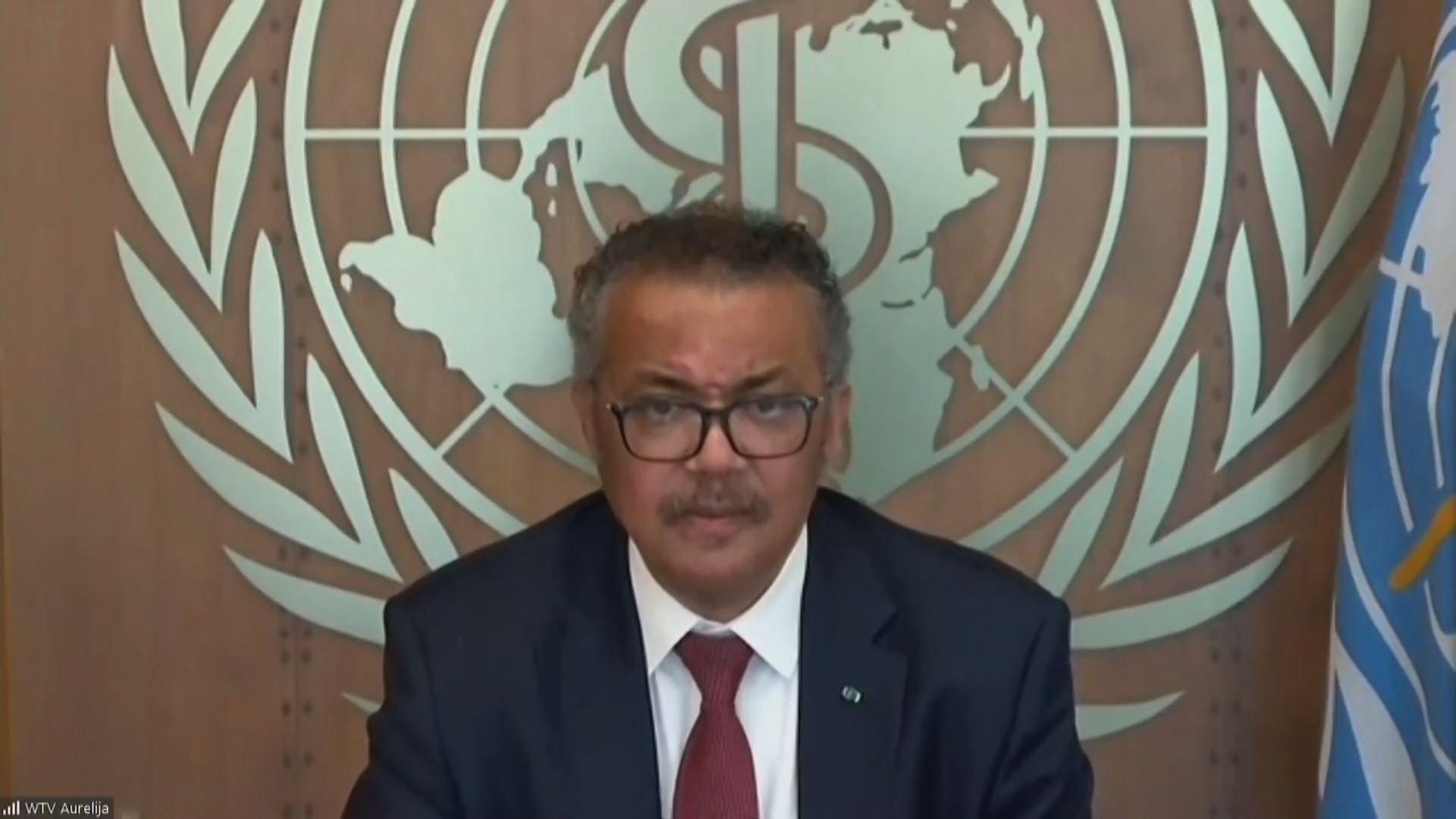 聯合國秘書長古特雷斯籲各國資助世衛全球疫苗計劃
