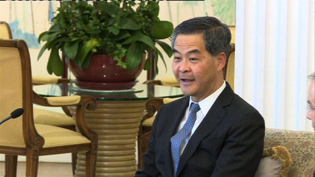 梁振英:把握機遇加強與印尼經貿關係