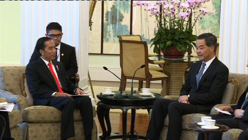 印尼總統佐科維多多結束訪港行程
