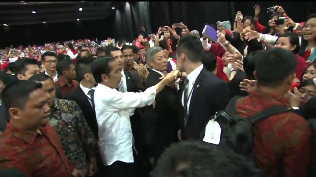 佐科維多多與在港印尼僑民會面 亞博稱有5000人參加