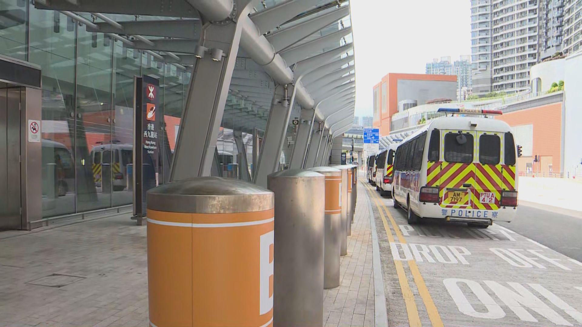 【九龍遊行】據報警方在西九龍站部署逾千警力