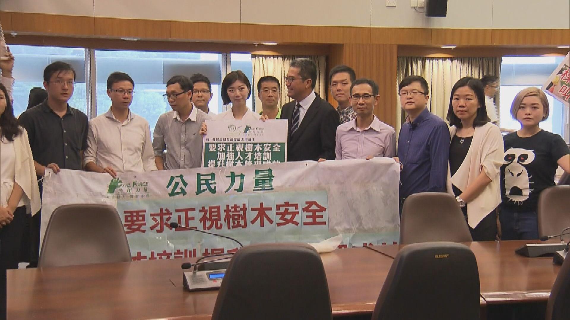 團體請願促發展局增管理樹木人手