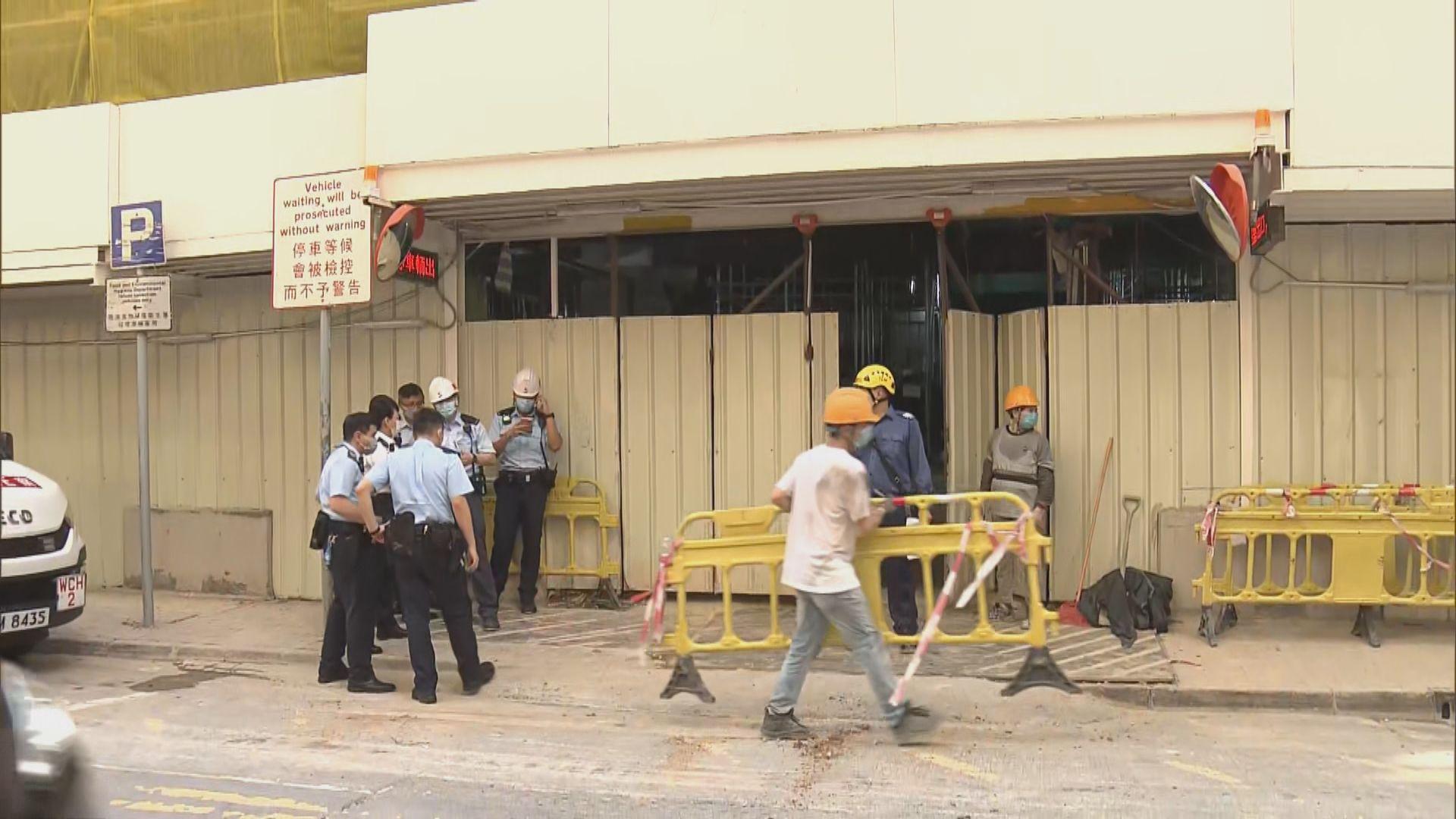 銅鑼灣地盤工人被支架擊中受傷昏迷送院