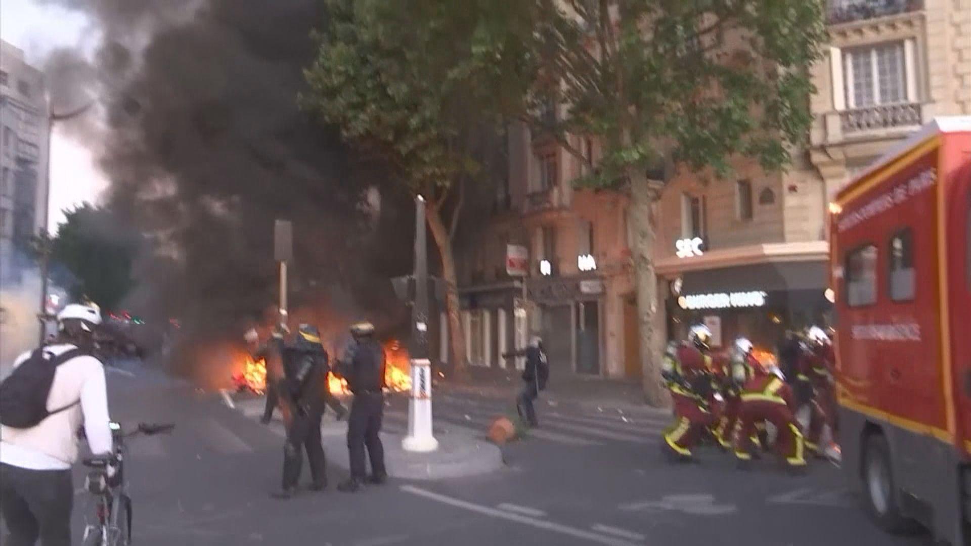 歐洲多個城市示威聲援美國示威者