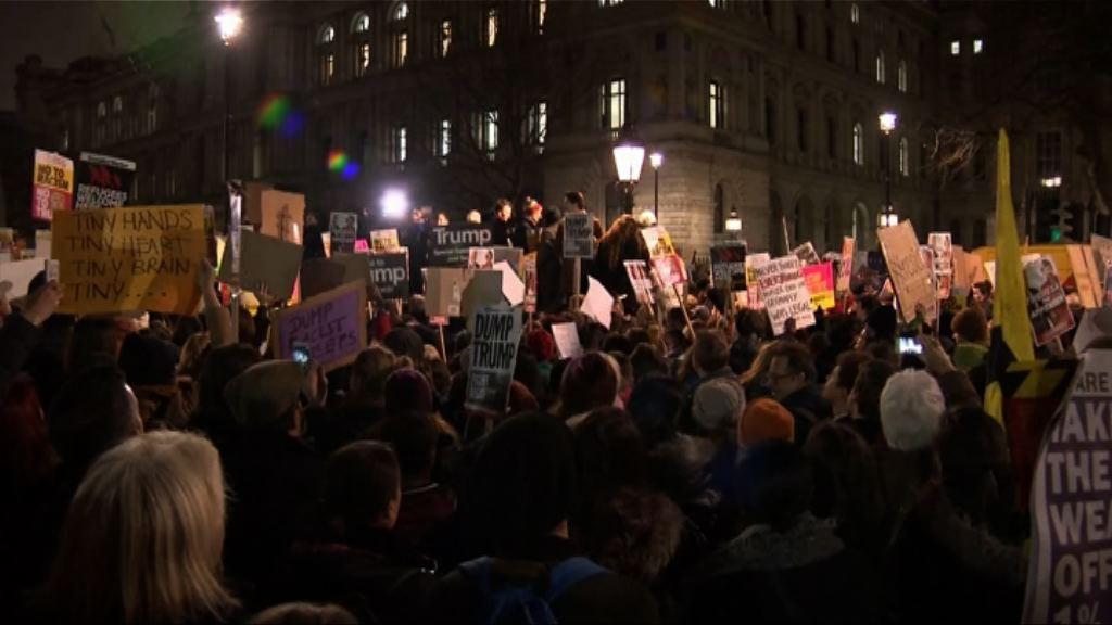 英國多處示威反特朗普到訪 文翠珊拒撤邀請