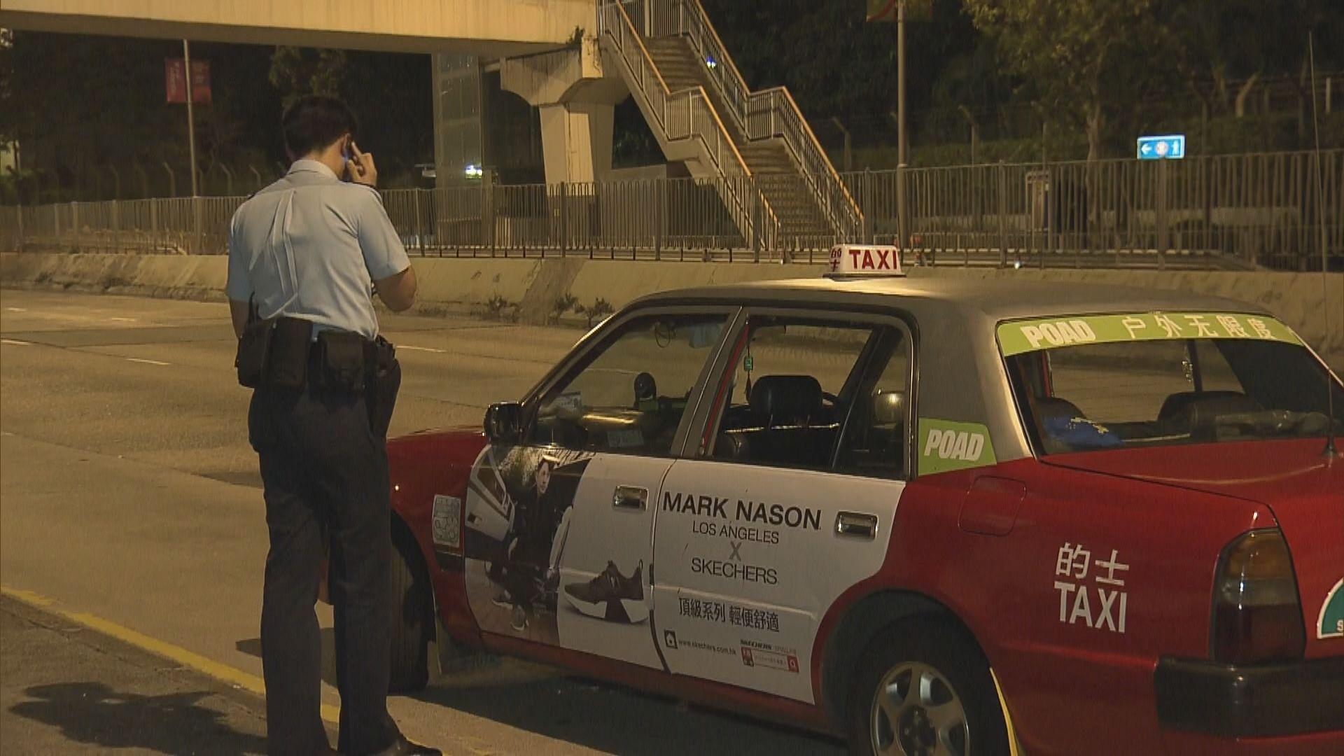 九龍塘的士遭私家車截停兩男乘客被斬傷