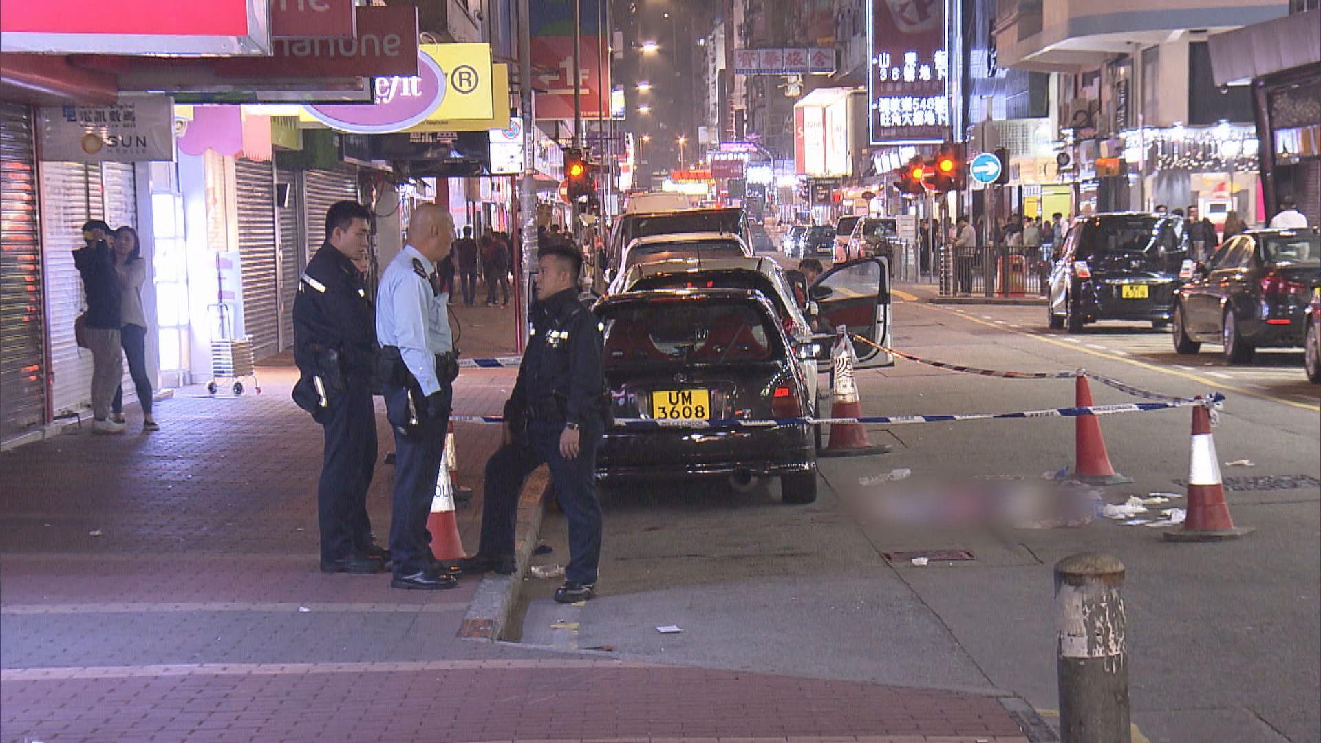 旺角男子遭多人持刀襲擊受傷