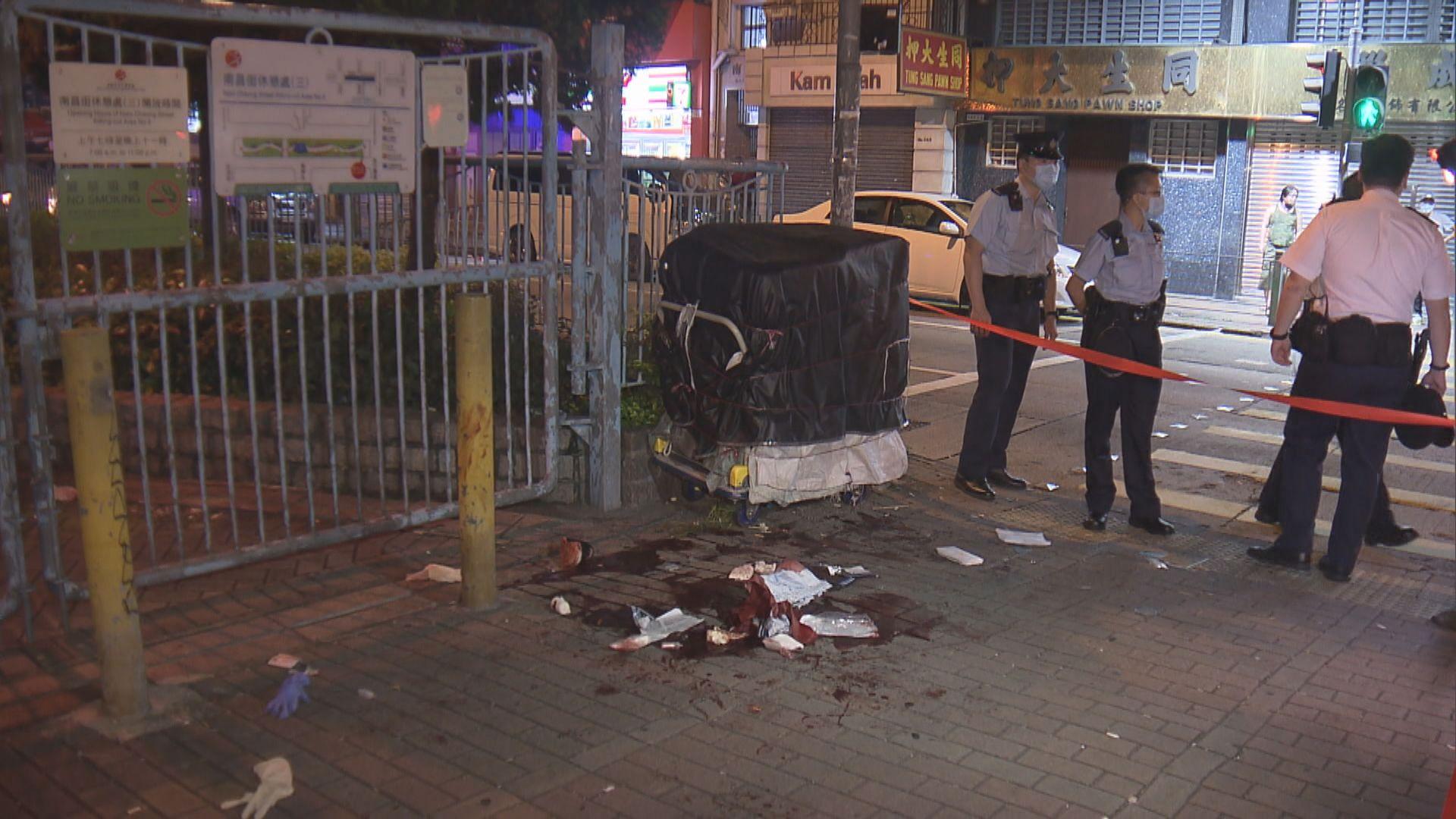 深水埗兩漢街頭遇襲中刀受傷