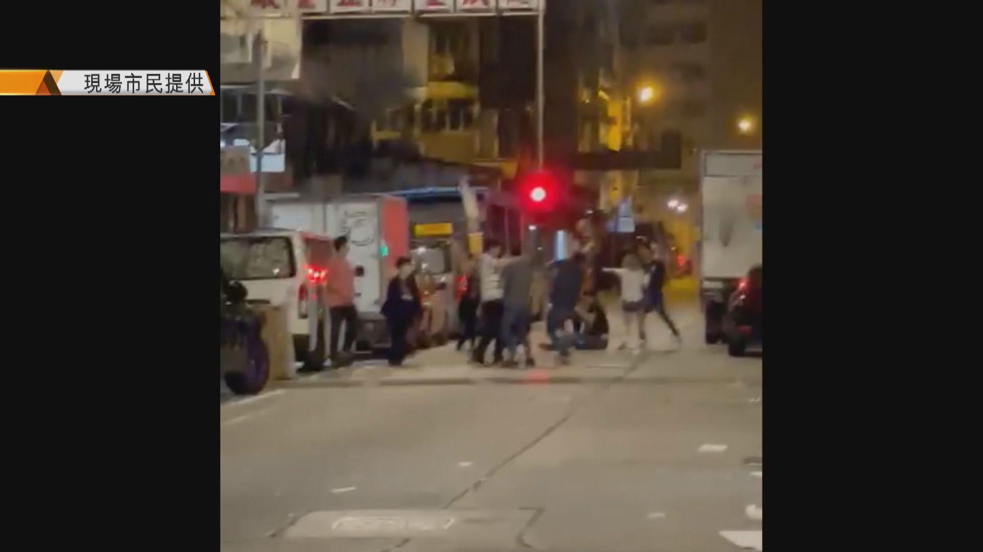 深水埗街頭兩漢遇襲受傷倒地