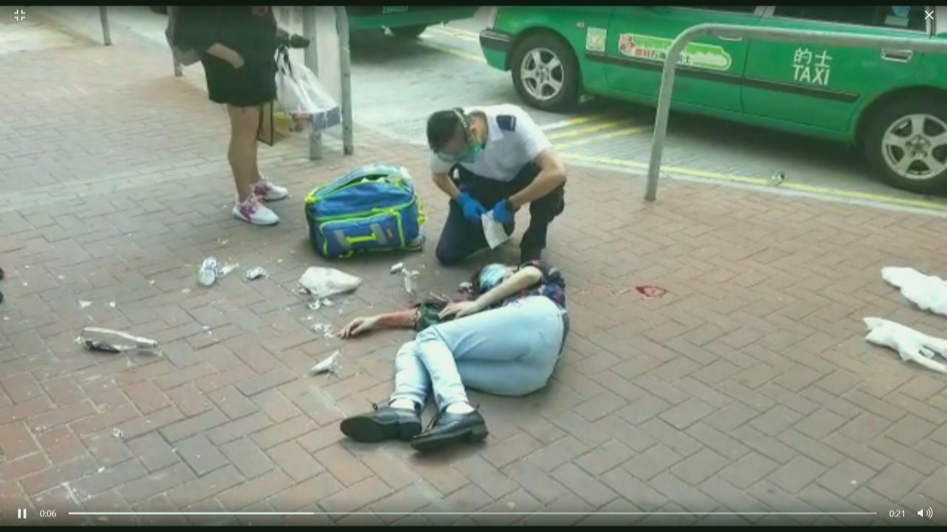 屯門女子遭玻璃樽扑頭受傷 四人在逃