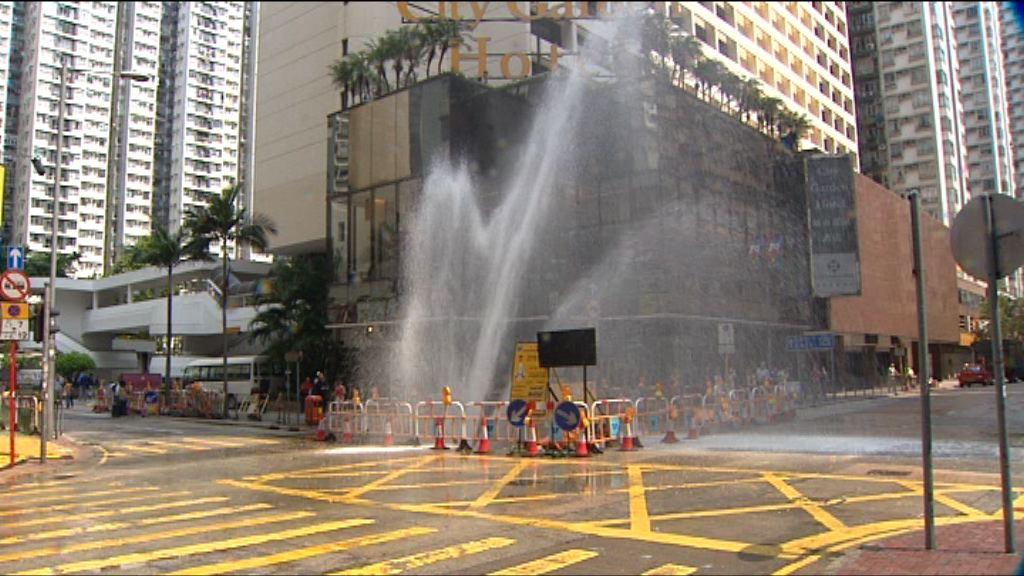水務署:維修水管要顧及噪音及交通問題
