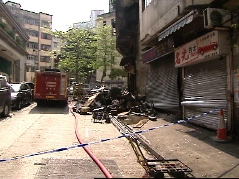 黃大仙車房爆炸現場仍未解封