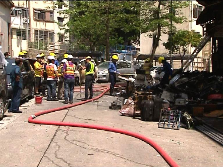 車房氣體爆炸 警聯多個政府部門調查