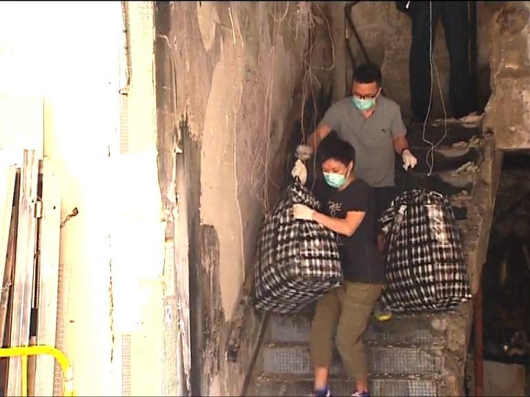 黃大仙爆炸一周住客返回收拾財物