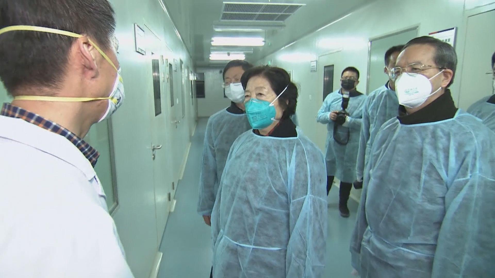 副總理孫春蘭到武漢視察新型肺炎防疫工作