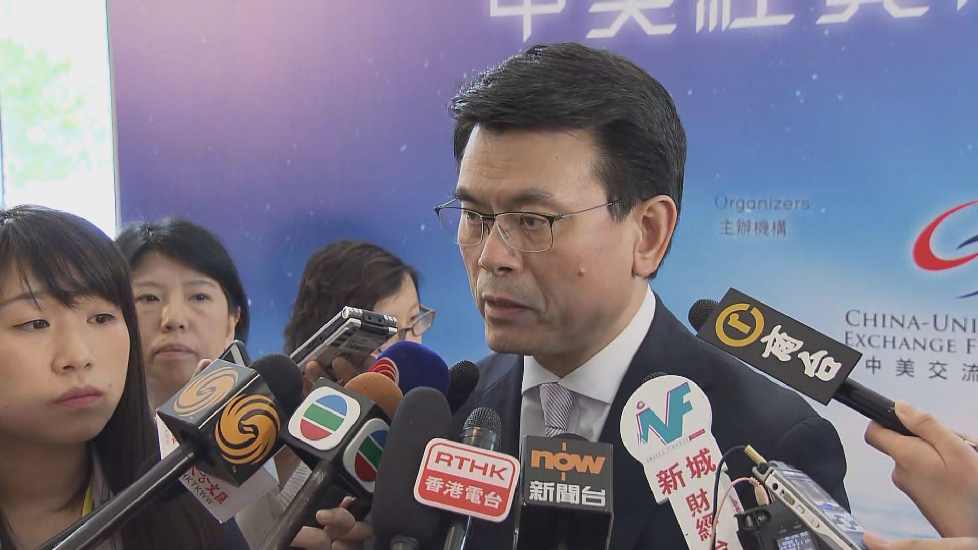 邱騰華:有業界指示威對本港旅遊業影響輕微