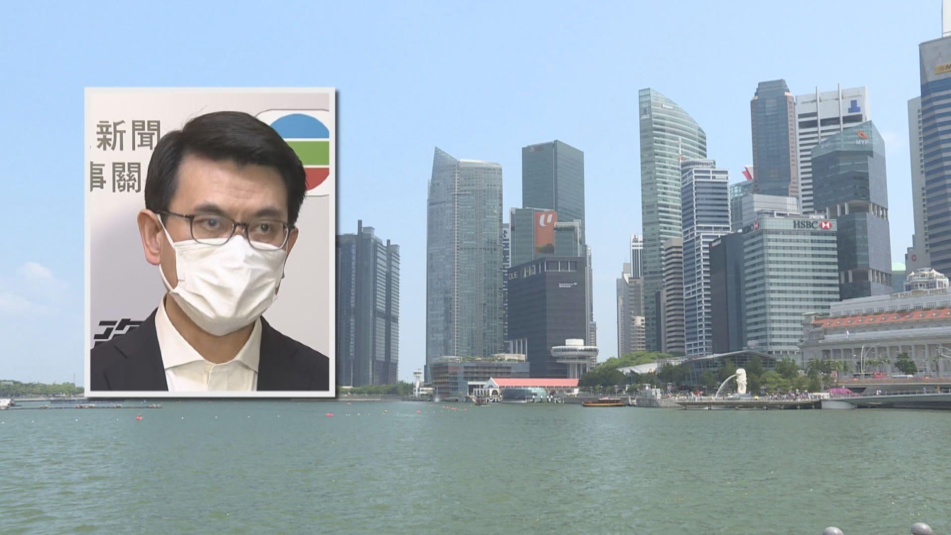 邱騰華冀新加坡旅遊氣泡月底起行