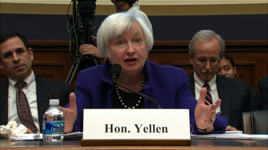 耶倫:美股市盈率高 難言是否出現泡沫