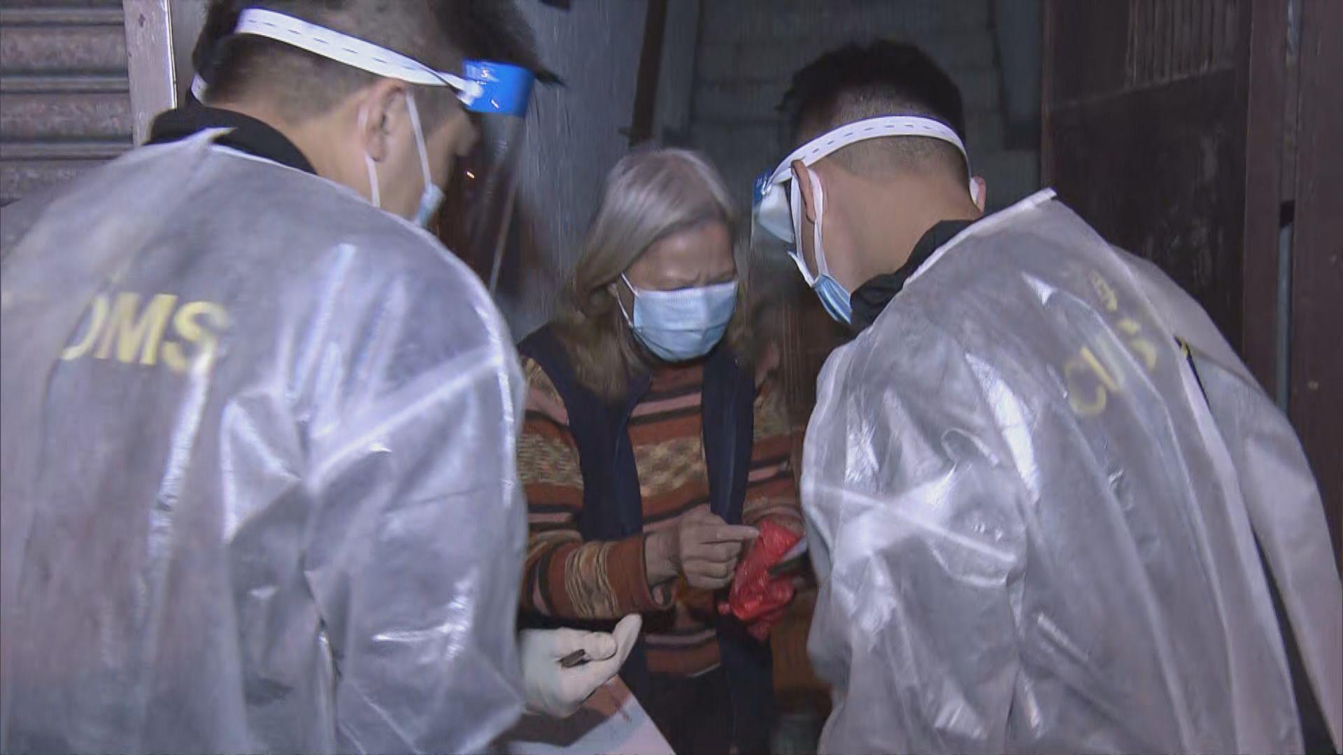 佐敦受限區域解封 紀律部隊大廈門口檢查居民檢測證明