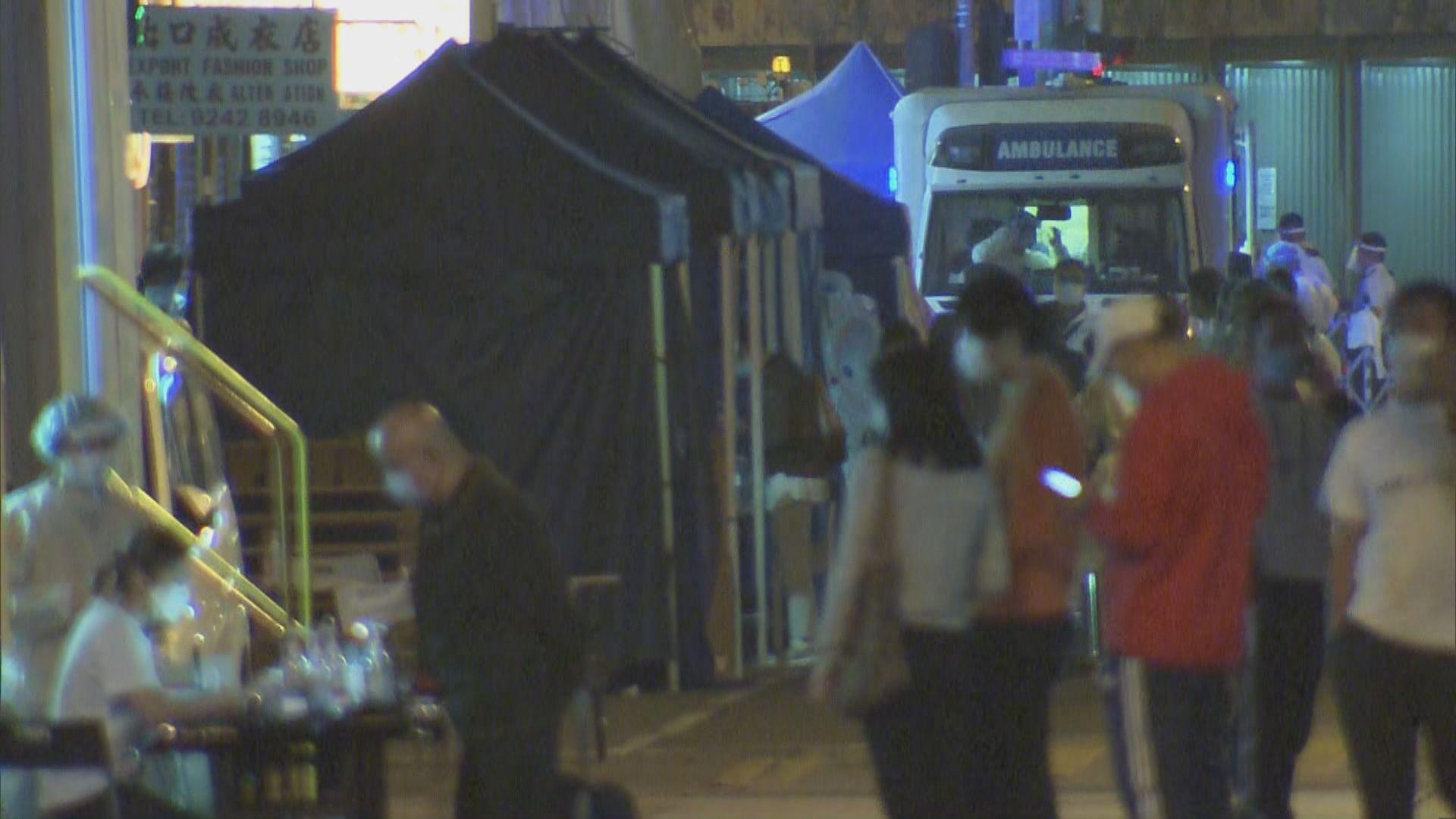 政府昨日在佐敦「受限區域」為6900人檢測