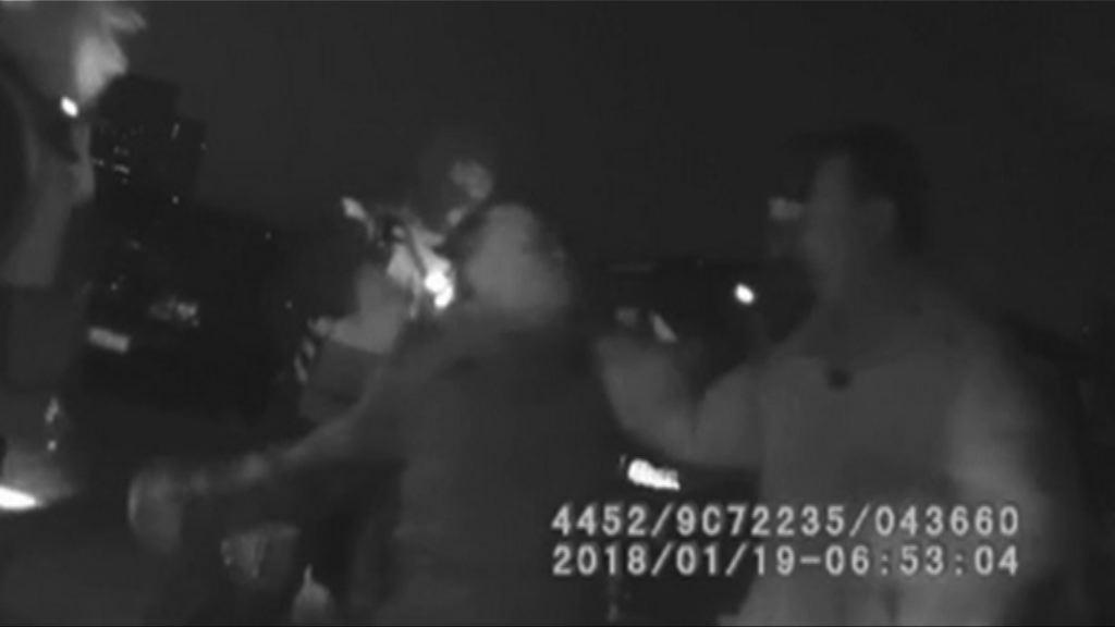 北京警方片段顯示余文生被帶走經過